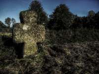 A lonely stone cross